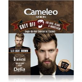 Delia Cosmetics Cameleo Men jednorázová barva pro okamžité zakrytí šedin odstín 5.0 Light Brown 2 x 15 ml