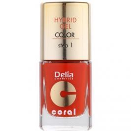 Delia Cosmetics Coral Nail Enamel Hybrid Gel gelový lak na nehty odstín 02  11 ml
