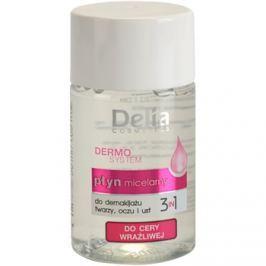 Delia Cosmetics Dermo System micelární čisticí voda na oční okolí a rty 3 v 1  50 ml