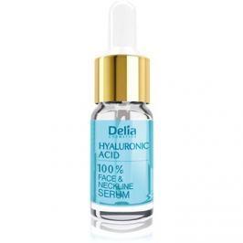 Delia Cosmetics Professional Face Care Hyaluronic Acid intenzivní vyplňující a protivráskové sérum s kyselinou hyaluronovou na obličej, krk a dekolt  10 ml