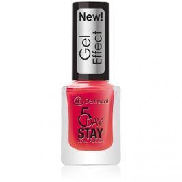 Dermacol 5 Day Stay lak na nehty s gelovým efektem odstín 28 Moulin Rouge 12 ml