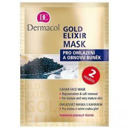 Dermacol Gold Elixir pleťová maska skaviárem  2x8 g