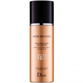Dior Dior Bronze rozjasňující ochranný olej na opalování SPF15  125 ml