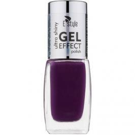 E style Gel Effect gelový lak na nehty bez užití UV/LED lampy odstín 15 Hot Plum 10 ml