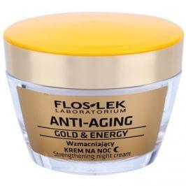 FlosLek Laboratorium Anti-Aging Gold & Energy posilující noční krém  50 ml