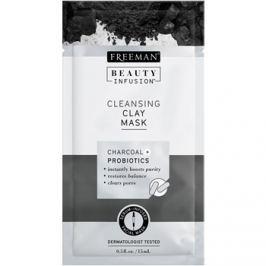 Freeman Beauty Infusion Charcoal + Probiotics čisticí jílová pleťová maska  15 ml