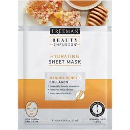 Freeman Beauty Infusion Manuka Honey + Collagen hydratační látková maska pro všechny typy pleti  25 ml