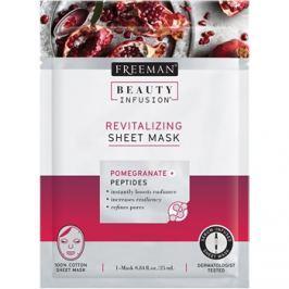 Freeman Beauty Infusion Pomegranate + Peptides revitalizační látková maska pro všechny typy pleti  25 ml