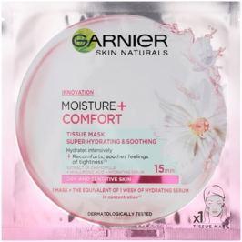 Garnier Skin Naturals Moisture+Comfort super hydratační zklidňující textilní maska pro suchou až citlivou pleť  32 g