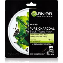 Garnier Skin Naturals Pure Charcoal  černá textilní maska s extraktem zmořských řas  28 g