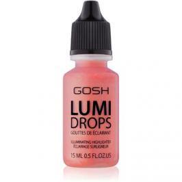 Gosh Lumi Drops tekutá tvářenka odstín 010 Coral Blush 15 ml