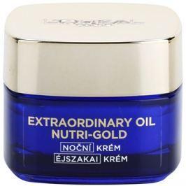L'Oréal Paris Nutri-Gold rozjasňující noční krém s intenzitou masky Essential Oils + Royal Jelly - Light Texture, Silky Soft) 50 ml