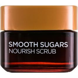 L'Oréal Paris Smooth Sugars Scrub peeling pro vyhlazení a výživu pleti  50 ml