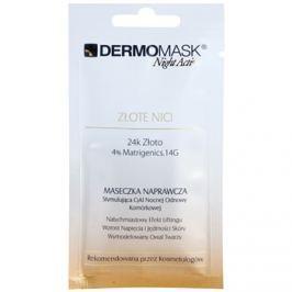 L'biotica DermoMask Night Active liftingová a zpevňující maska s 24 karátovým zlatem  12 ml