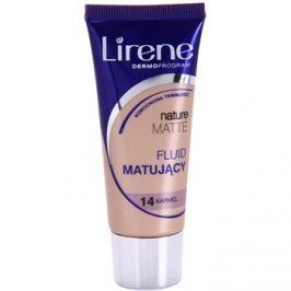 Lirene Nature Matte matující fluidní make-up pro dlouhotrvající efekt odstín 14 Caramel 30 ml