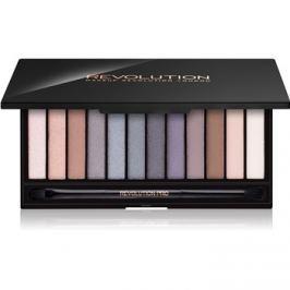Makeup Revolution Iconic Smokey paleta očních stínů se zrcátkem a aplikátorem  13 g