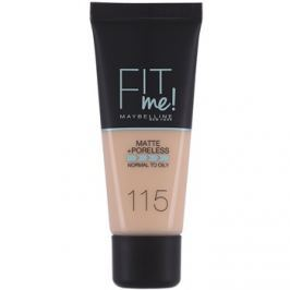 Maybelline Fit Me! Matte+Poreless make-up odstín 115 Ivory 30 ml