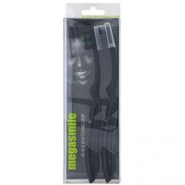 Megasmile Black Whitening Loop zubní kartáček s aktivním uhlím se zesílenou rukojetí  2 ks