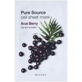 Missha Pure Source plátýnková maska s revitalizačním účinkem Acai Berry 21 g