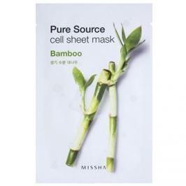Missha Pure Source plátýnková maska s hydratačním a revitalizačním účinkem Bamboo 21 g