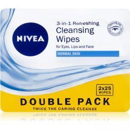 Nivea 3in1 Refreshing odličovací ubrousky pro normální pleť Double Pack 2 x 25 ks