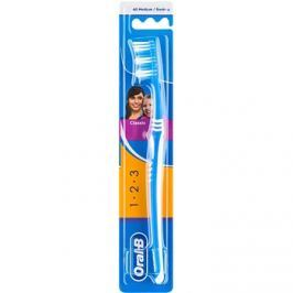 Oral B 1-2-3 Classic Care zubní kartáček medium Blue