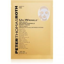 Peter Thomas Roth Un-Wrinkle 24K Gold plátýnková maska proti vráskám  6 ks