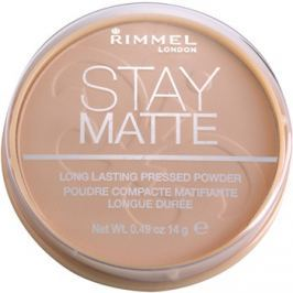 Rimmel Stay Matte pudr odstín 005 Silky Beige  14 g
