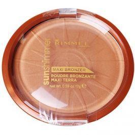 Rimmel Sun Shimmer Maxi Bronzer bronzující pudr odstín 004 Sun Star 17 g