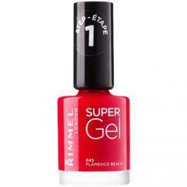 Rimmel Super Gel Step 1 gelový lak na nehty bez užití UV/LED lampy odstín 045 Flamenco Beach 12 ml