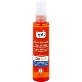 RoC Soleil Protect transparentní ochranný sprej proti stárnutí pokožky SPF30  150 ml