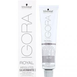 Schwarzkopf Professional IGORA Royal Absolutes SilverWhite tónující demi-permanentní barva na vlasy pro stříbrné a bílé vlasy odstín Silver  60 ml