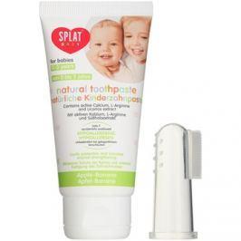 Splat Baby přírodní zubní pasta pro děti s masážním kartáčkem příchuť Apple/Banana 40 ml