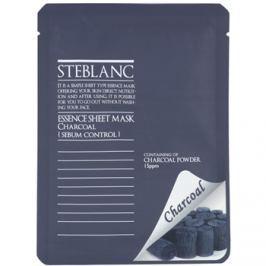 Steblanc Essence Sheet Mask Charcoal čisticí maska pro mastnou pleť  20 ml