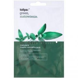 Tołpa Green Matt normalizující pleťová maska s matným efektem  2 x 6 ml