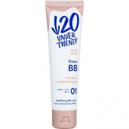Under Twenty ANTI! ACNE matující BB krém s antibakteriálním účinkem SPF 10 odstín 01 Light Beige 60 ml
