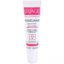 Uriage Roséliane tónující fluid pro citlivou pleť se sklonem ke zčervenání odstín 02 Doré Naturel  15 ml