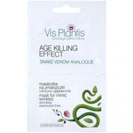 Vis Plantis Age Killing Effect protivrásková maska na obličej s hadím jedem  2 x 5 ml