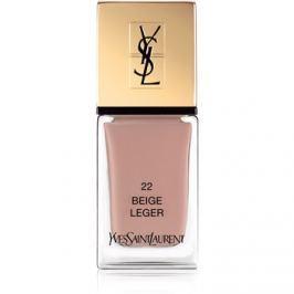 Yves Saint Laurent La Laque Couture lak na nehty odstín 22 Beige Léger 10 ml