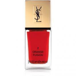 Yves Saint Laurent La Laque Couture lak na nehty odstín 02 Orange Fusion 10 ml