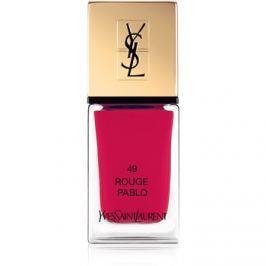 Yves Saint Laurent La Laque Couture lak na nehty odstín 49 Rouge Pablo 10 ml