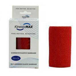 KinesioMAX Cohesive elast.samofix.10cmx4.5m červe.