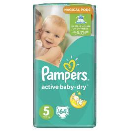 Pampers Active Baby-Dry Dětské pleny 5 junior 64 ks