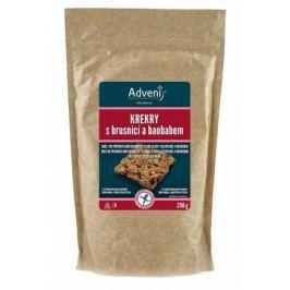 Krekry s brusnicí a baobabem 250 g Adveni