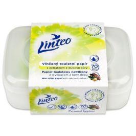Toaletní papír LINTEO vlhčený 70ks box dubová kůra
