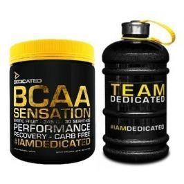 Dedicated BCAA Sensation Jahoda/Kiwi/Pomeranč 345g (405g) + Barel ZDARMA
