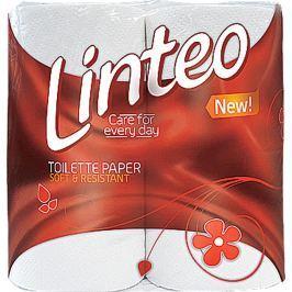 Linteo Classic toaletní papír bílý 2 vrstvý 150 útržků 4 kusy