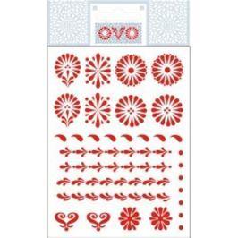 Ovo Obtisky kraslice Červené 12 motivů 1 aršík