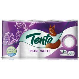 Tento Pearl White toaletní papír 3 vrstvý 150 útržků 8 kusů