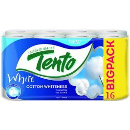 Tento Cotton Whiteness toaletní papír bílý 2 vrstvý 131 útržků 16 kusů